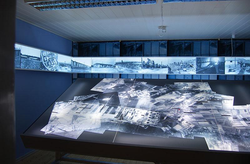 Blick in die Ausstellung, 2012. Foto: Björn Herrmann, Dokumentations- und Lernort Baracke Wilhelmine