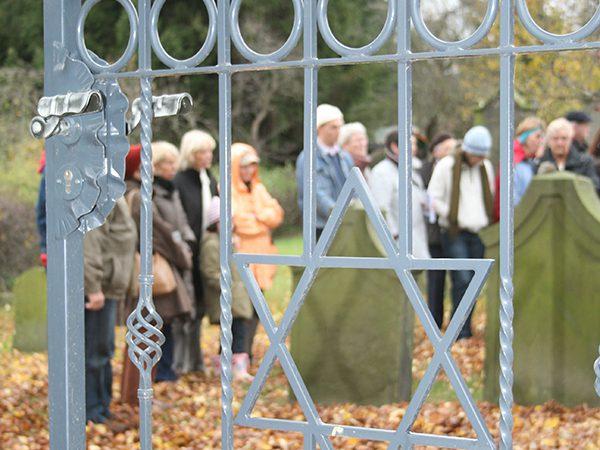 Blick auf den jüdischen Friedhof in Salzgitter-Bad  Copyright: Arbeitskreis Stadtgeschichte e.V.
