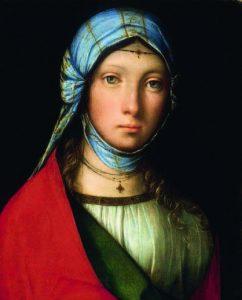 Boccaccio Boccaccino, Ritratto di fanciulla (La zingarella), 1504–1505 circa, Firenze, Galleria degli Uffizi, tavola, 24 × 19 cm, aus: Dokument: Web Gallery of Art http://www.wga.hu/detail/b/ boccacci/boccacci/2/gypsy_g.jpg