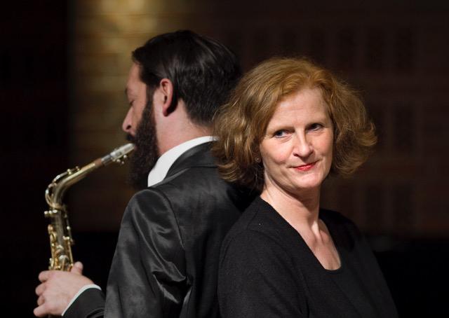 Saxophon Frau Mann